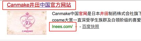 非官方网站但标题为官网的负面案例